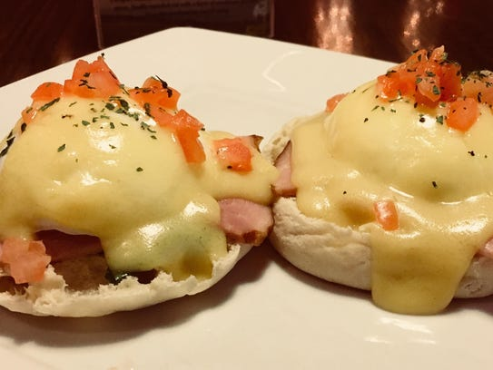 The eggs benedict from Malarkey's Pub and Townies Grill.
