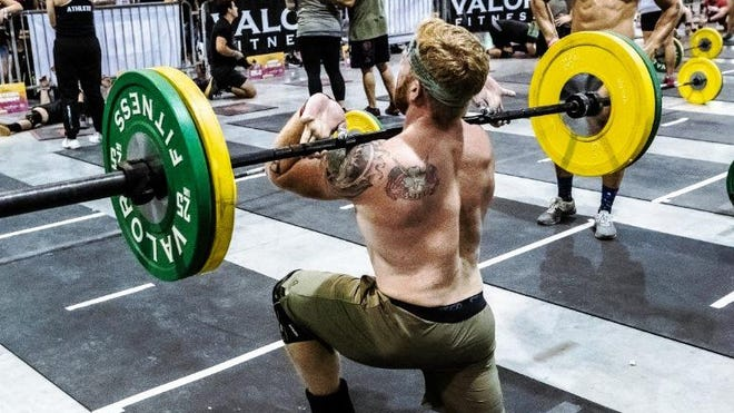 A competitor does a power lift during last year's Bacon Beatdown at the Ocean Center.