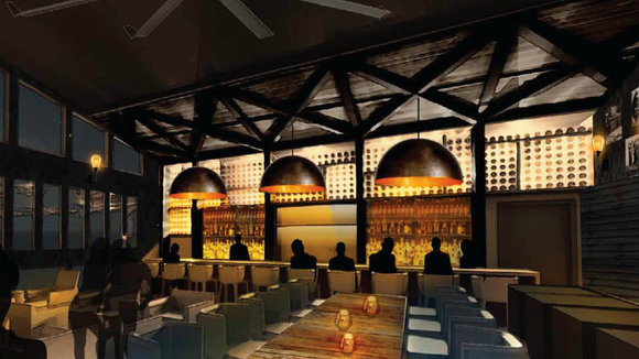 A mock-up of The Montford Bar & Lounge, planned for the new Hyatt PLace hotel.