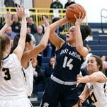 East Lansing girls basketball ties state record for made 3s in a game