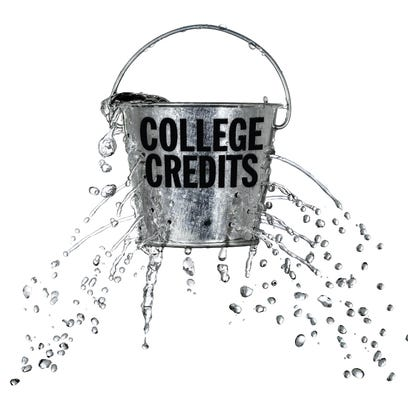 Students often fail to transfer credits when they move to another college, according to the U.S. Education Department.