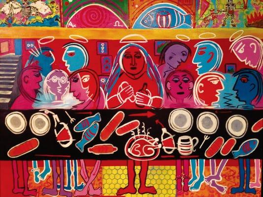 """""""La Última Cena"""" (""""The Last Supper""""), above, by Martha Arzabala."""