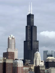 The Sears Tower in Chicago in April 2005.
