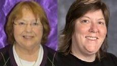 Keokuk teachers Kay Slusher, left, and Ehren Wills.