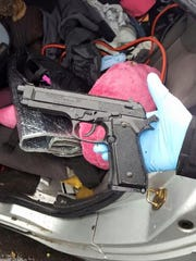 This is the replica gun that police say was found in Sarah Dean's purse.