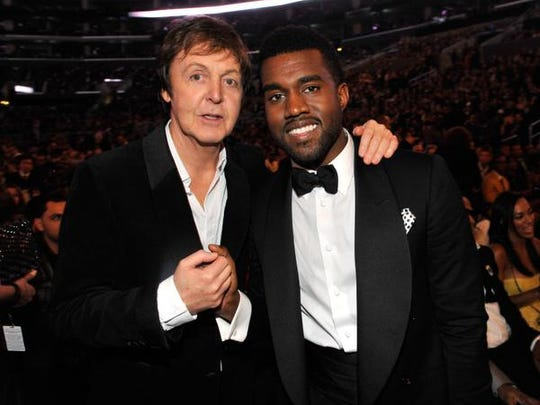 Sir Paul McCartney and Kanye West at the Grammy Awards