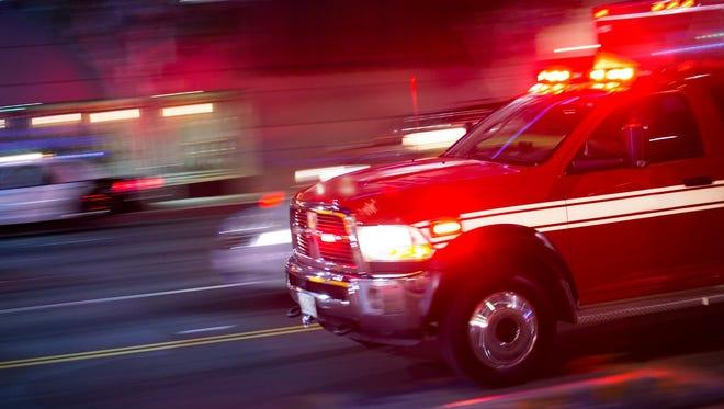 Emergency responders rush to the scene