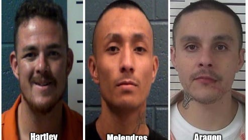 "Edward ""Eddy"" Hartley, 36, James Melendres, 24, and  Joseph Aragon, 25"