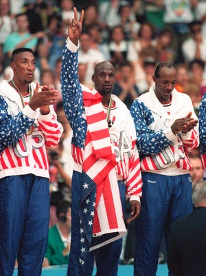 During the 1992 Olympics, Michael Jordan (center) and the Dream Team dominated the city of Barcelona.