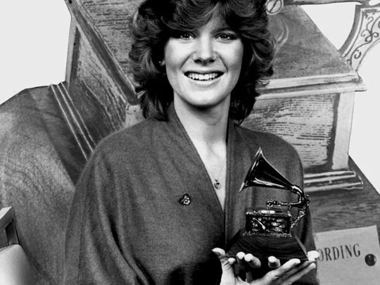 Debby Boone with her 1977 Grammy for Best New Artist.
