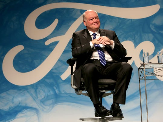 Ford Motor Company announces the new President and CEO, Jim Hackett in May 2017 at the Ford Motor Company World Headquarters in Dearborn.