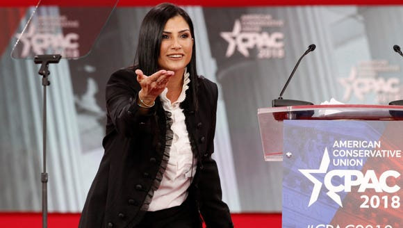 In this Feb. 22, 2018, photo, Dana Loesch, spokeswoman