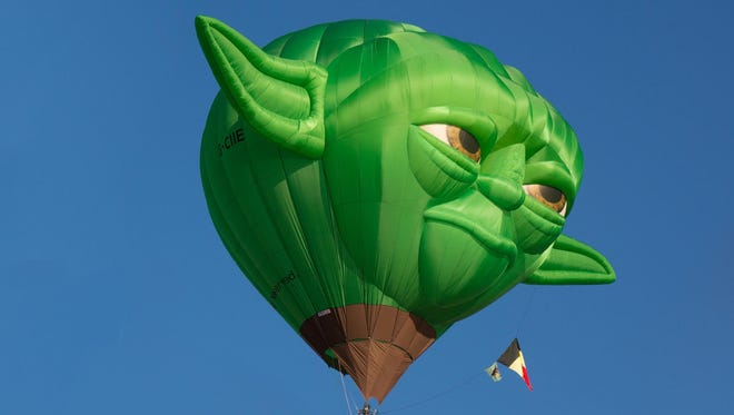 New for this year: the Master Yoda balloon.