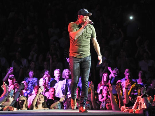 Cole Swindell performs at the KFC YUM! Center on May 8 in Louisville, Ky.