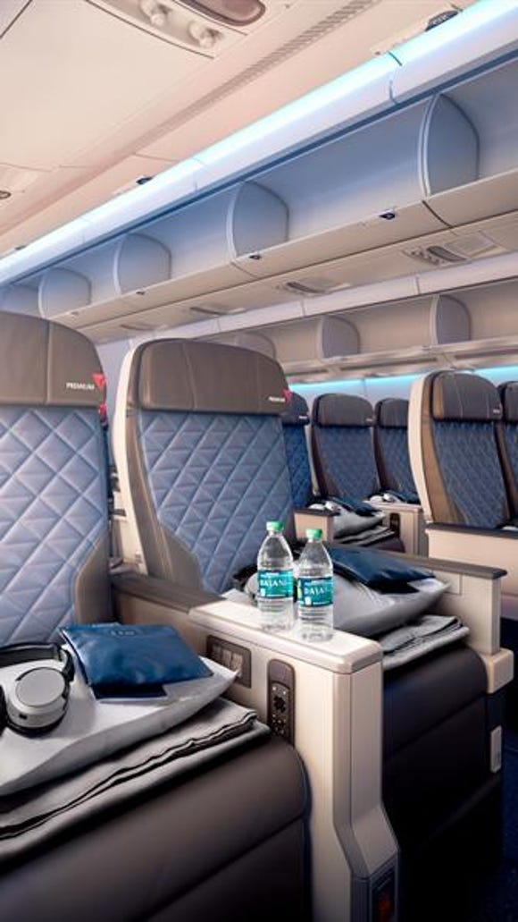 "This image shows what Delta's new ""Delta Premium"" premium"