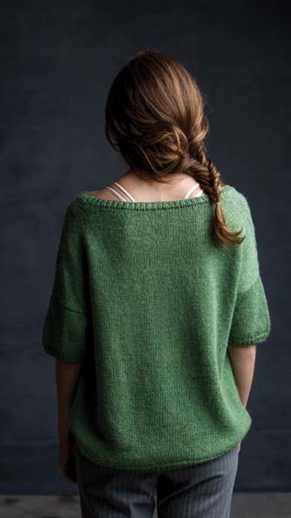 The Pacific Grove Tee is an oversized sweater with drop shoulders and short sleeves.