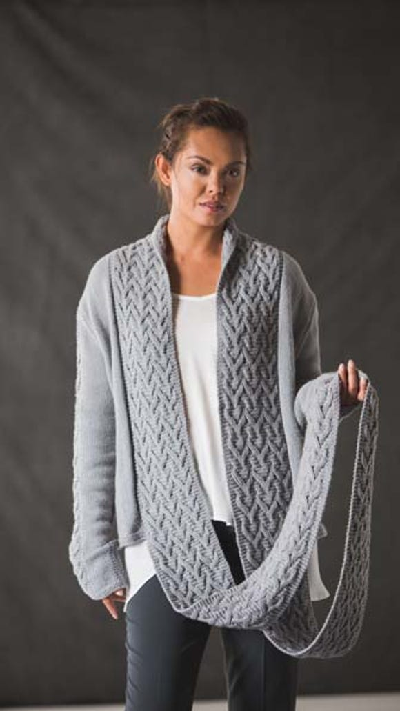 I love this Brewster Cardigan with its long and broad fields of accenting cables.