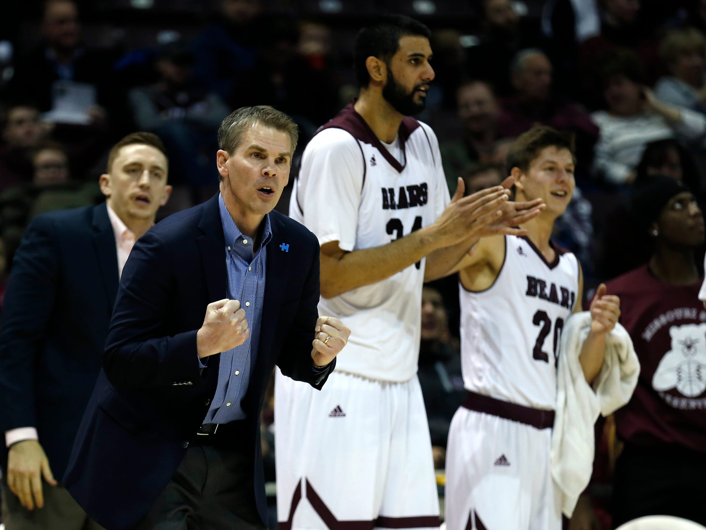 Missouri State coach Paul Lusk leads the Bears during