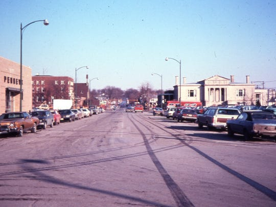 College Street facing east in the early 1970s, before