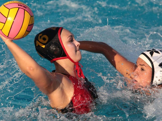Palm Desert's Alina Hudson prepares to shoot against Xavier Prep earlier this year. The defending CIF champion Aztecs begin their quest for a repeat at home on Wednesday.