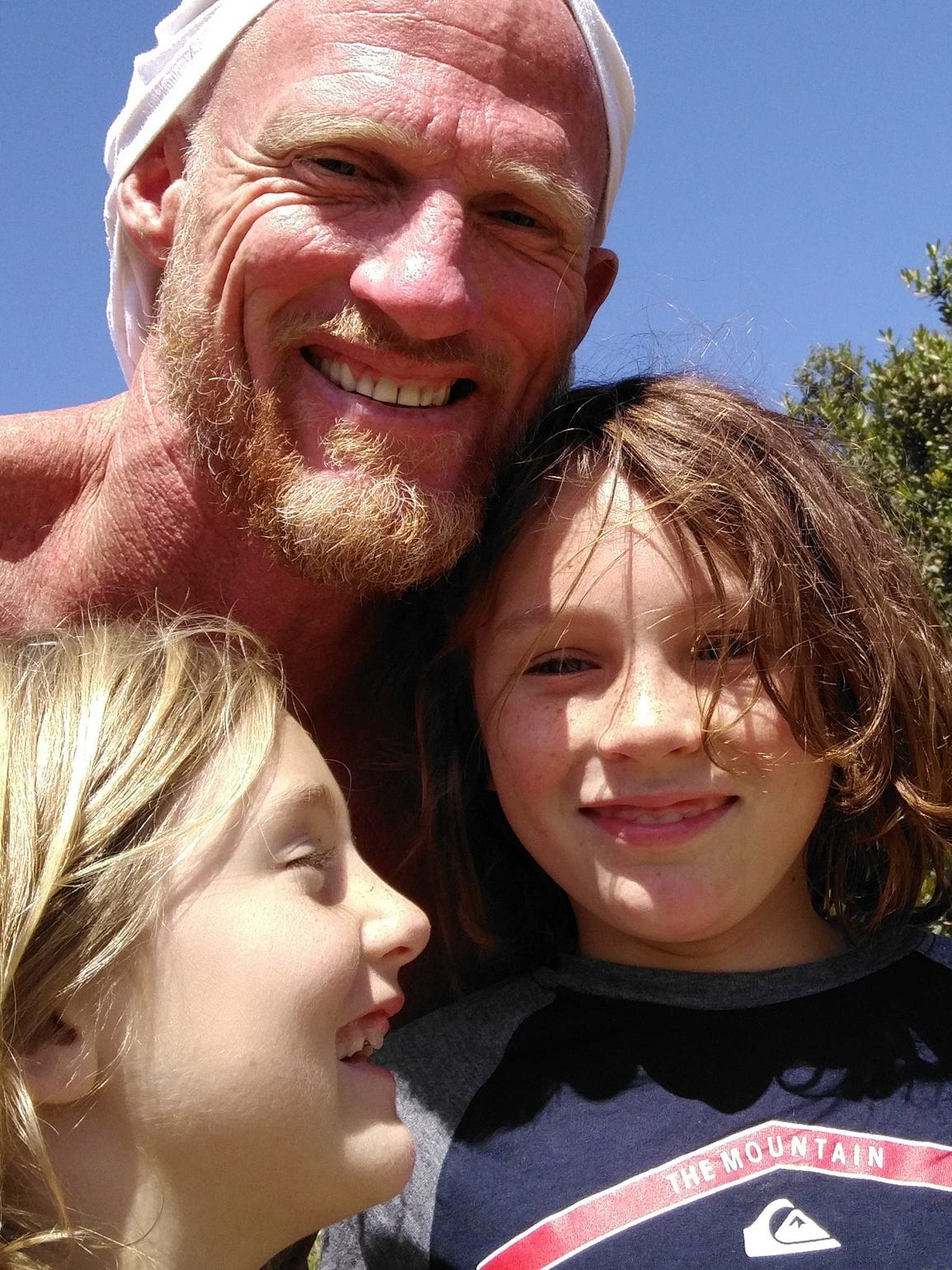 Todd Marinovich spends time with his children Baron