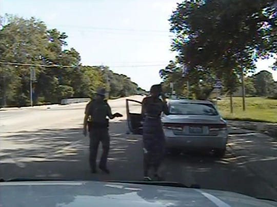 In this July 10 frame from dashcam video provided by