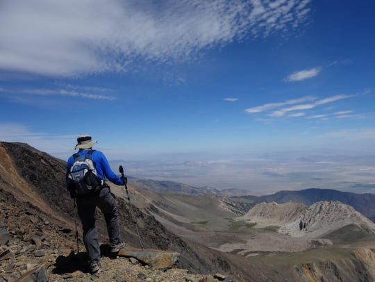 Looking east from near White Mountain Peak in the Inyo