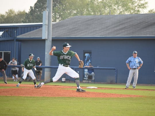 Grace Christian pitcher Luke Boswell pitched a complete game three-hitter against Barbe this season and made the LSWA Class B All-State first team.