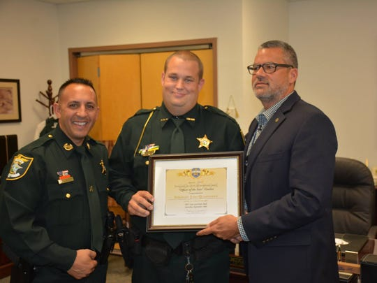 Sgt. Josh Quaintance is part of the sheriff's Highway Interdiction Unit. The  LCSO deputy is one of five finalists for this year's Officer of the Year award presented by the Rotary Club of Fort Myers South.