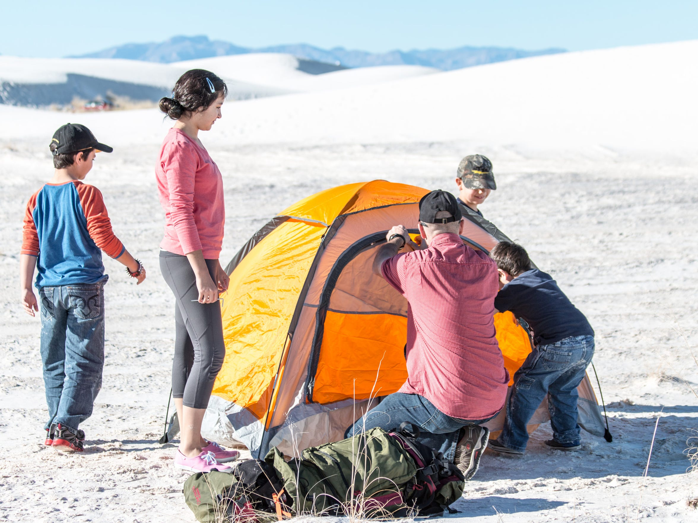 There are 10 primitive backcountry camping sites available on a first-come, first-served basis at White Sands National Monument.