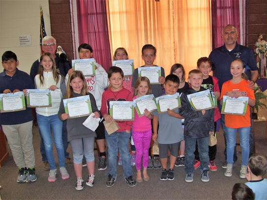 Father James B. Hay Elementary School had 13 students qualify for the BUG Honor Roll in March.