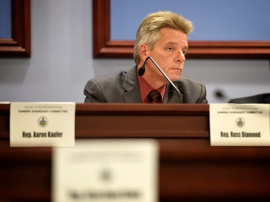 Pennsylvania State Representative Russ Diamond serves the people of the 102nd Legislative District.  Diamond listens Oct. 19 to testimony during a House Gaming Oversight Committee meeting.