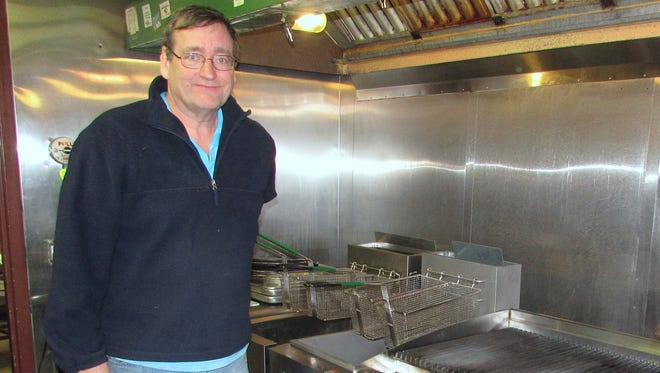 Joe Steigerwald, new owner of the former Palms Restaurant in Elmira, shows off some of the new kitchen equipment he installed in the business.