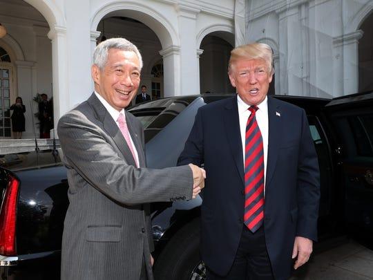 Lee Hsien Loong, Donald Trump