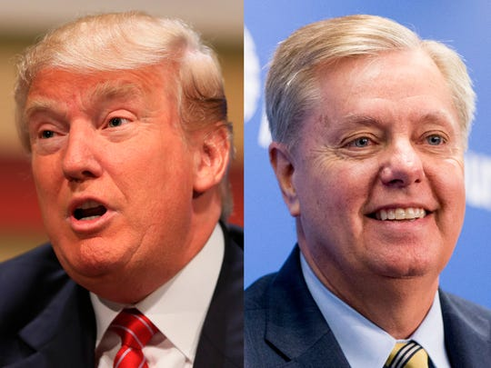 President Donald Trump and Sen. Lindsey Graham