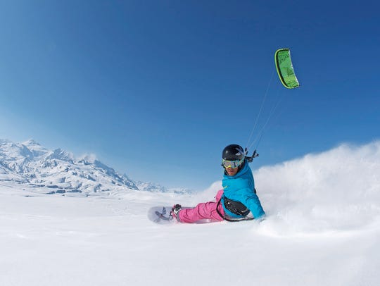 The Utah Snowkite Center in Salt Lake City offers hourlong