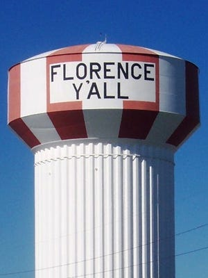The Florence Y'all water tower in 2009.