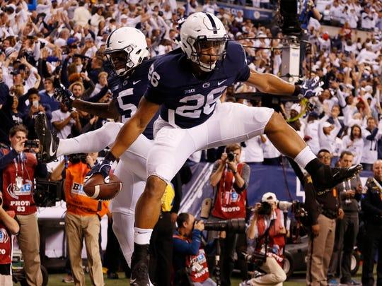 Penn State Nittany Lions running back Saquon Barkley