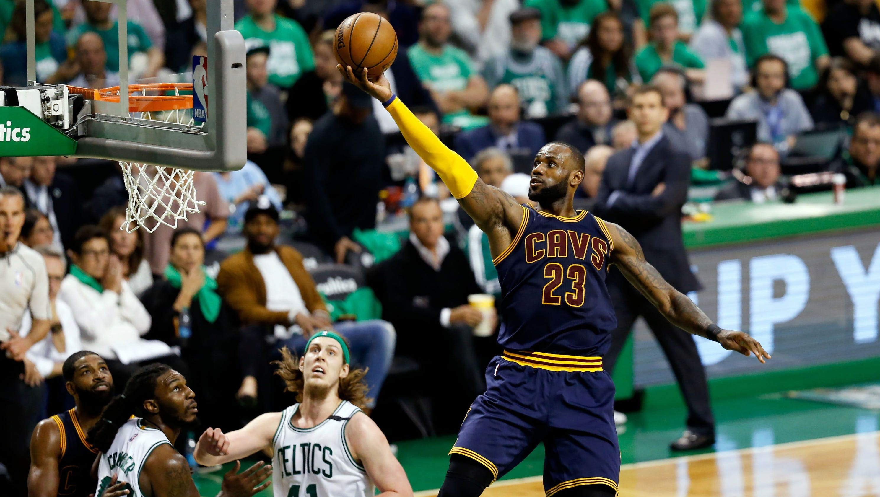 Cavaliers rout Celtics, advance to NBA Finals showdown ...