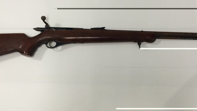The .22 rifle used in the Ridge Road incident is shown here.