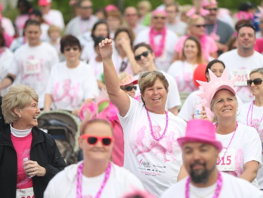 Scenes from the Susan Komen Race for the Cure 5K Run