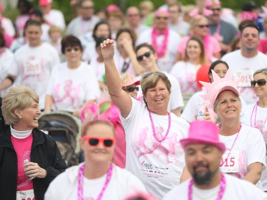 Scenes from the Susan Komen Race for the Cure 5K Run & Walk at Coconut Point Mall in Estero on Saturday. More than 6,500 people took part in the annual event.