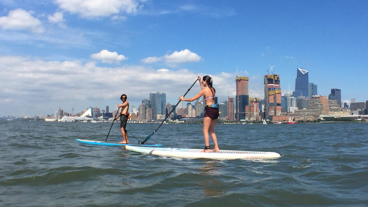 WATCH: Would you paddle board on the Hudson River?