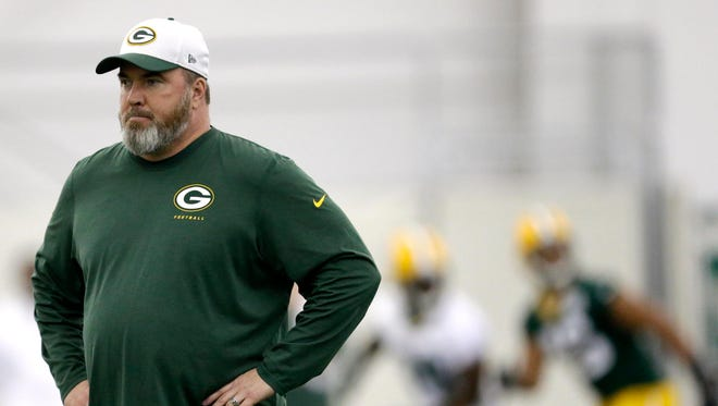 Packers head coach Mike McCarthy during rookie minicamp.