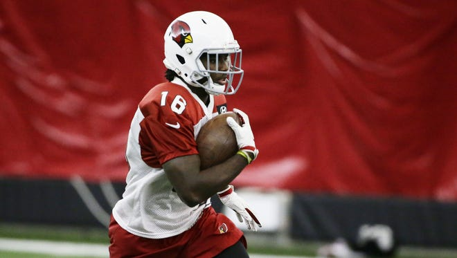 Cardinals receiver Chad Williams during practice at the Arizona Cardinals Training Facility on Aug. 29, 2017 in Tempe, AZ.