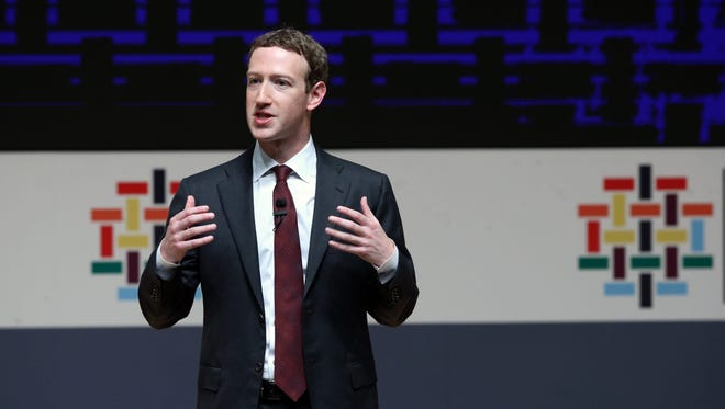 Founder and CEO of Facebook Mark Zuckerberg speaks in Lima, Peru Nov. 19. Zuckerberg recently shared Facebook's strategy to fight fake news.
