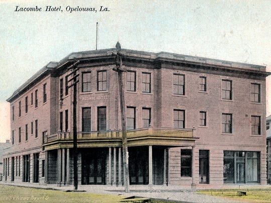 The New Lacombe Hotel on the corner of Court and Bellevue streets soon after it was constructed in 1909.