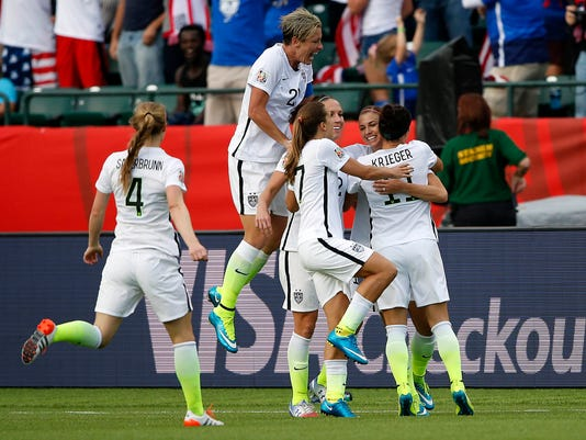 USP SOCCER: WOMEN'S WORLD CUP-UNITED STATES AT COL S SOC CAN AL
