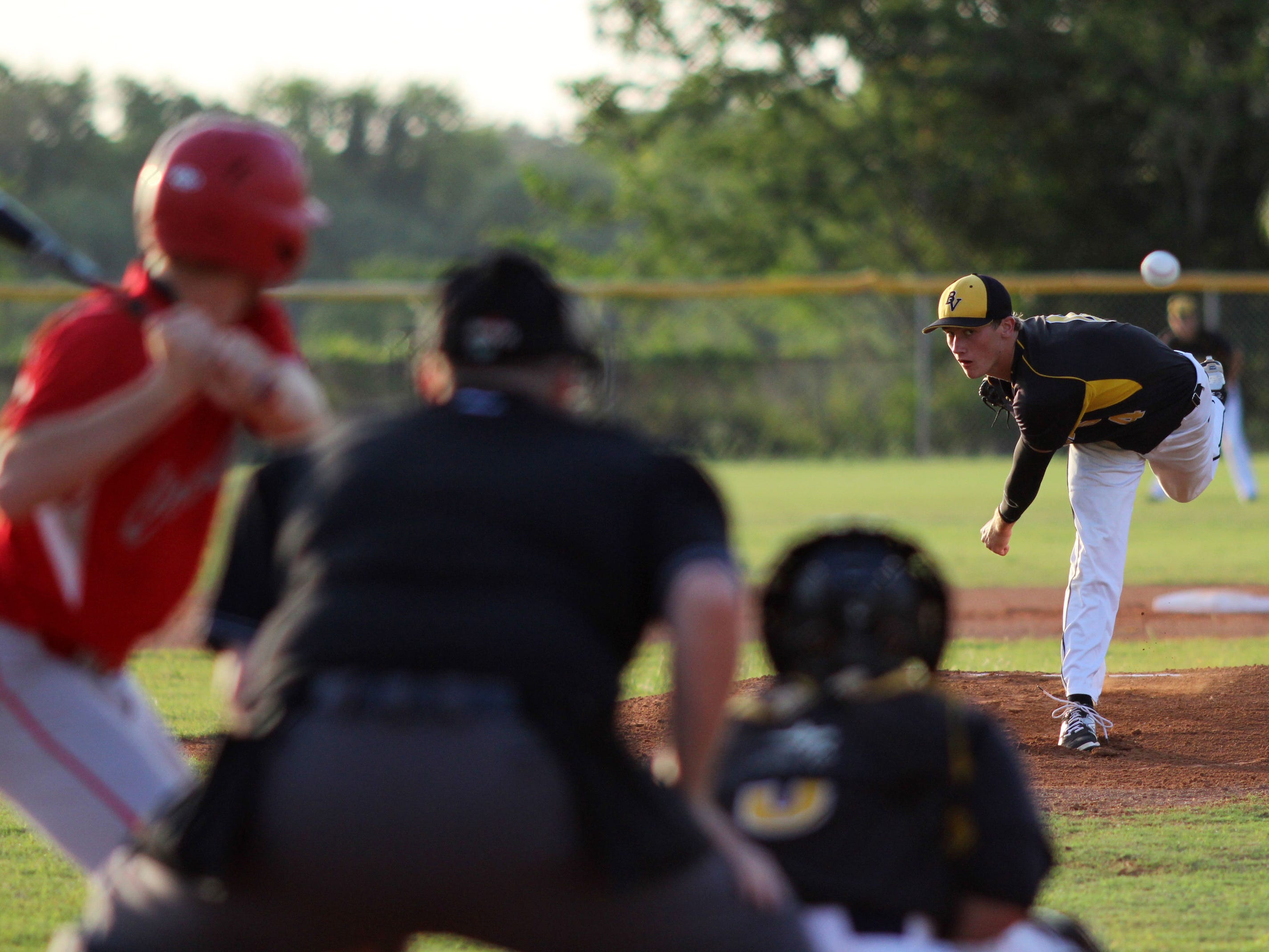 Bishop Verot's Patrick Banick was unhittable against LaBelle on Friday night.