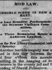 Dec. 16, 1868, The Indiana Herald headline that tells